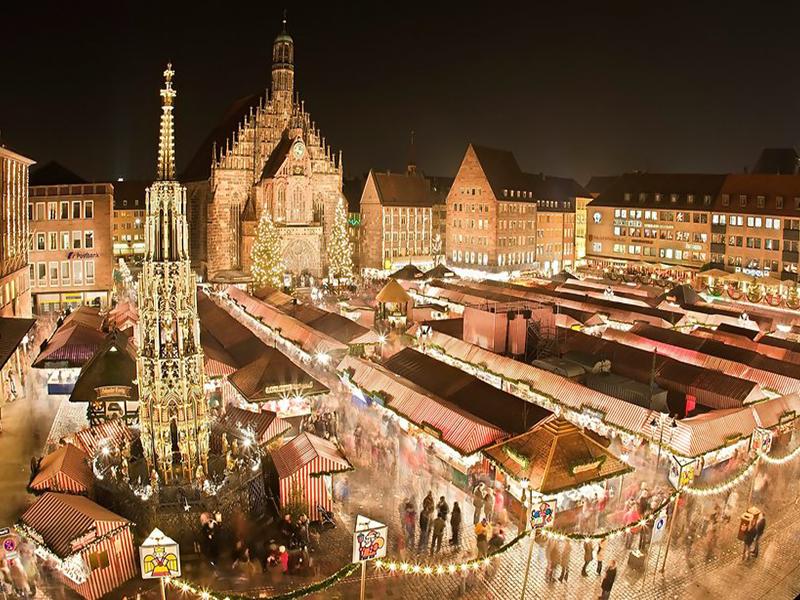 Рідзвяний ярмарок у Нюрнберзі, Баварія, Німеччина
