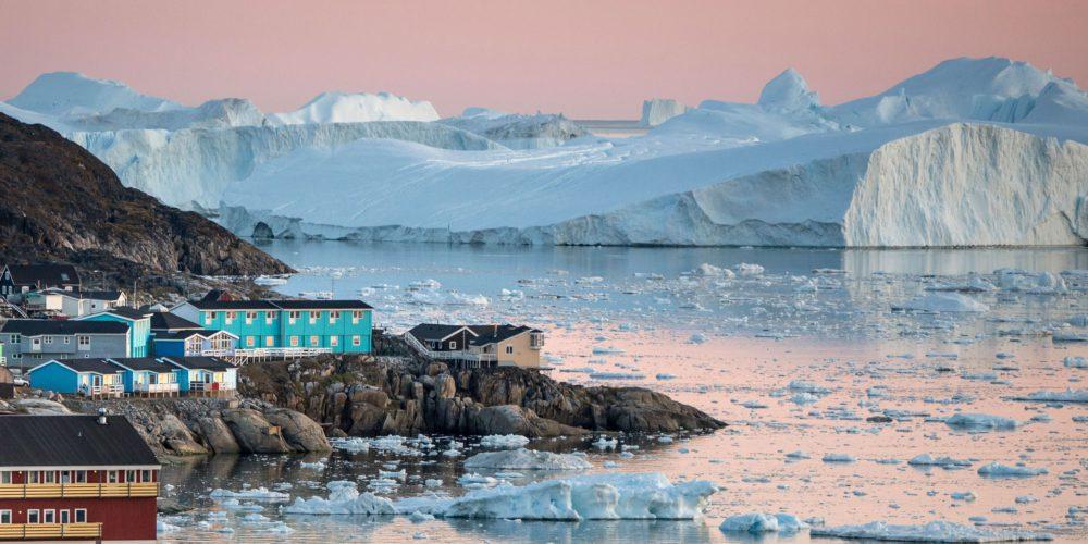 льодовик Іуліссат, Данія, Гренландія,